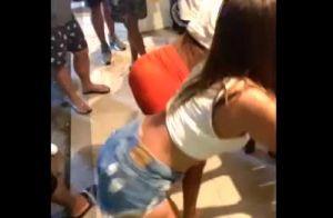 Anitta reúne amigos de infância em casa e dança de microshort em 3° dia de festa