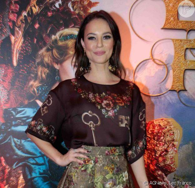Paolla Oliveira dubla a personagem Bela do filme 'A Bela e a Fera' (16 de setembro de 2014)