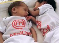 Mulher de Erick Jacquin mostra gêmeos com looks iguais: 'MiniChef'. Vídeo!