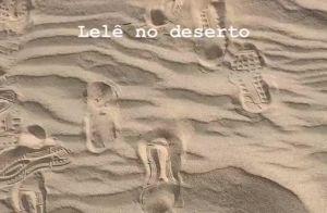 Neymar curte praia do Oriente Médio e compartilha foto de sunga: 'No deserto'