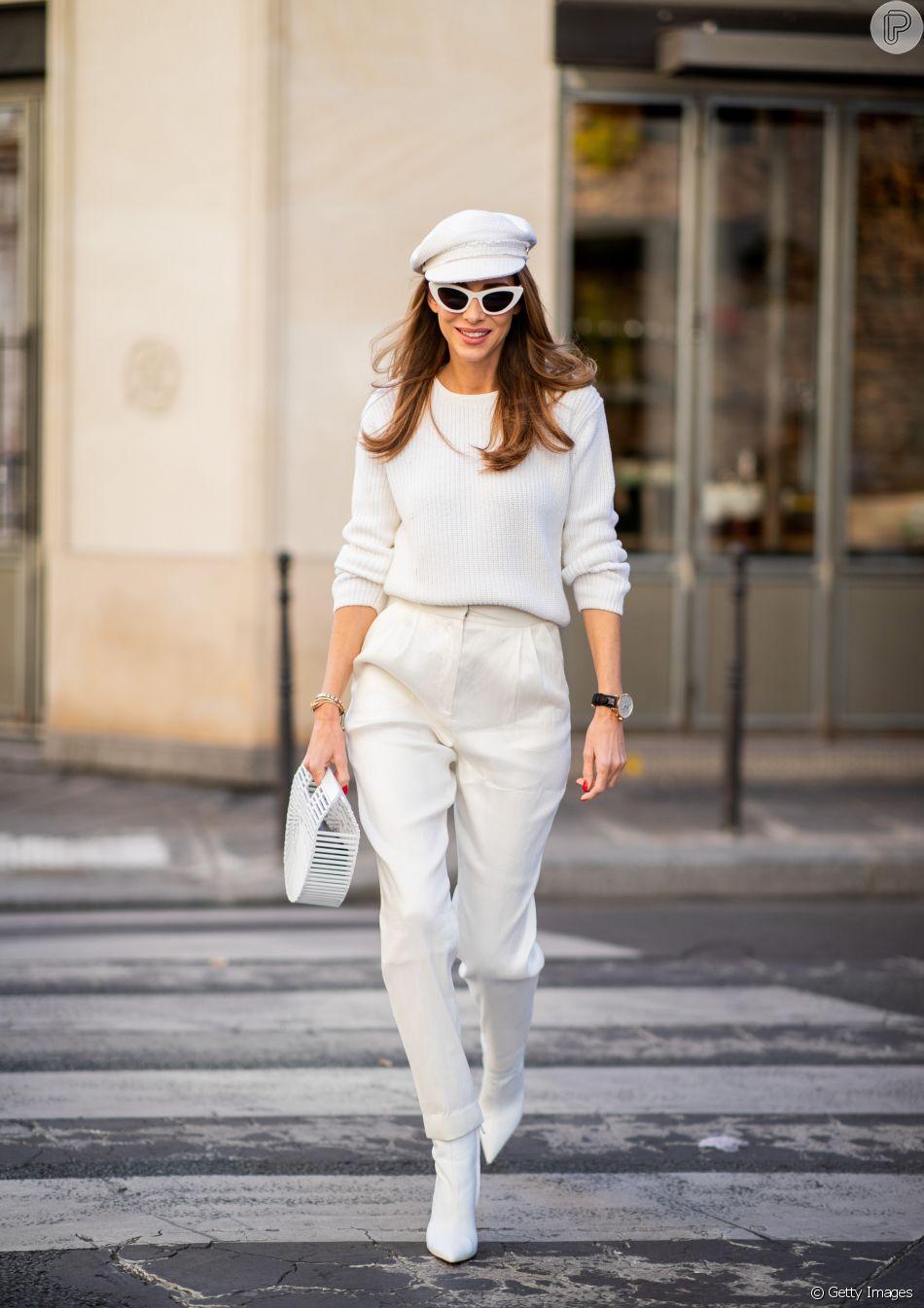 Tendência da temporada: botas brancas - com look monocromático