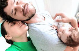 José Loreto embala filha, Bella, e declara seu amor: 'Até o mundo acabar'. Vídeo