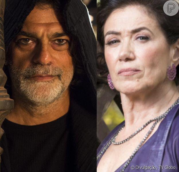 Na novela 'O Sétimo Guardião', Murilo (Eduardo Moscovis) irá espionar Valentina (Lília Cabral) e Sampaio (Marcello Novaes) na forma do gato Léon.