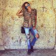 Giovanna Ewbank com look despojado, um de seus favoritos: jeans rasgado e botas