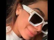 Anitta filma recepção de pets após viagem: 'Se não fizerem festa, me mato'