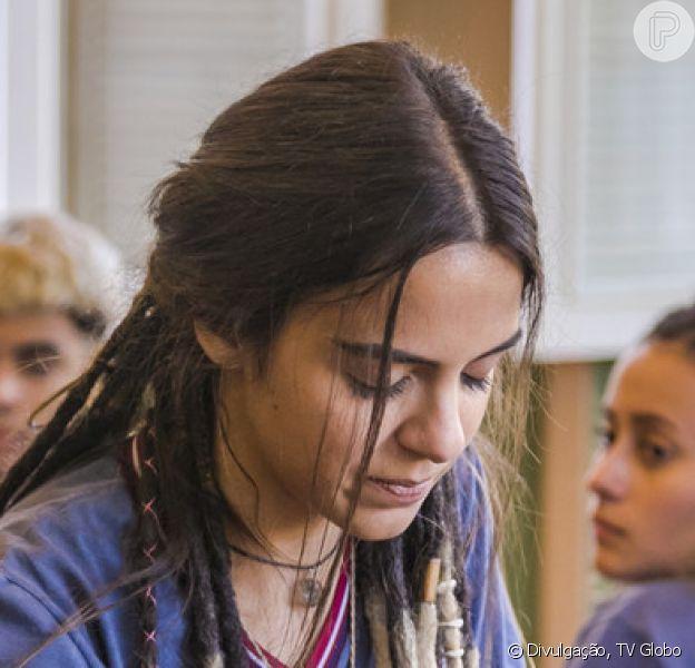 Amanda (Pally Siqueira) lança seu livro, realizando um sonho, e fica emotiva no capítulo de quarta-feira, 13 de março de 2019 da novela 'Malhação: Vidas Brasileiras'