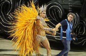 Rainha de novela e musa real! Grazi Massafera exibe corpo definido na Sapucaí