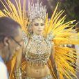 Grazi Massafera brilhou durante uma participação no desfile da Imperatriz Leopoldinense