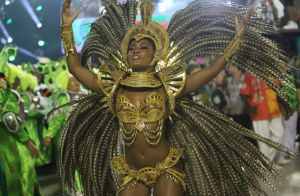 Musa no Carnaval, Erika Januza diz que namorado quase não a viu: 'Só por foto'