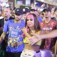 Neymar chegou ao Nosso Camarote com Anitta e Gabriel Medina no mesmo momento em que a ex-namorada, musa do espaço vip Bruna Marquezine. O jogador e seu grupo entrou no local pela pista