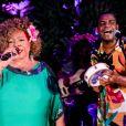 Alcione e Pretinho da Serrinha comandaram a música no Baile da Arara