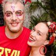 Guilherme Webber e Mariana Ximenes se encontraram no Baile da Arara