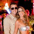 Joaquim Lopes e Marcella Fogaça foram juntos ao Baile da Arara