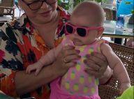 Sabrina Sato mostra Zoe com maiô e chapéu de abacaxi na piscina. Vídeo!
