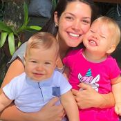 Thais Fersoza exibe Melinda e Teodoro com looks da mesma estampa: 'Combinando'