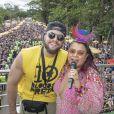 Preta Gil recebeu o marido, Rodrigo Godoy, em bloco neste domingo, 10 de março de 2019, no Parque Ibirapuera, em São Paulo