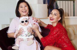 Família fashionista! Sabrina Sato, Zoe e dona Kika posam estilosas: '3 gerações'