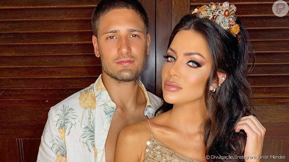 Daniel Rocha e Laíse Leal se casaram neste sábado, 23 de março de 2019