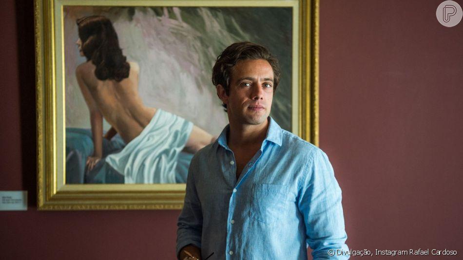 Rafael Cardoso mostrou o novo visual após terminar de gravar a novela 'Espelho da Vida'