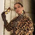 Anitta usou e abusou do mix de animal print