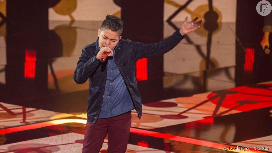 Nicolas Gabriel disse que sentiu de presença de Cristiano Araujo no 'The Voice Kids' neste domingo, 7 de abril de 2019