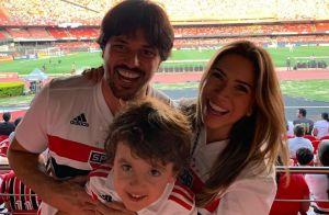 Família Abravanel vai a estreia de Alexandre Pato no São Paulo: 'Pé quente'