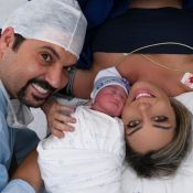 Sertanejo Edson apresenta filha em fotos na maternidade e fãs apontam semelhança