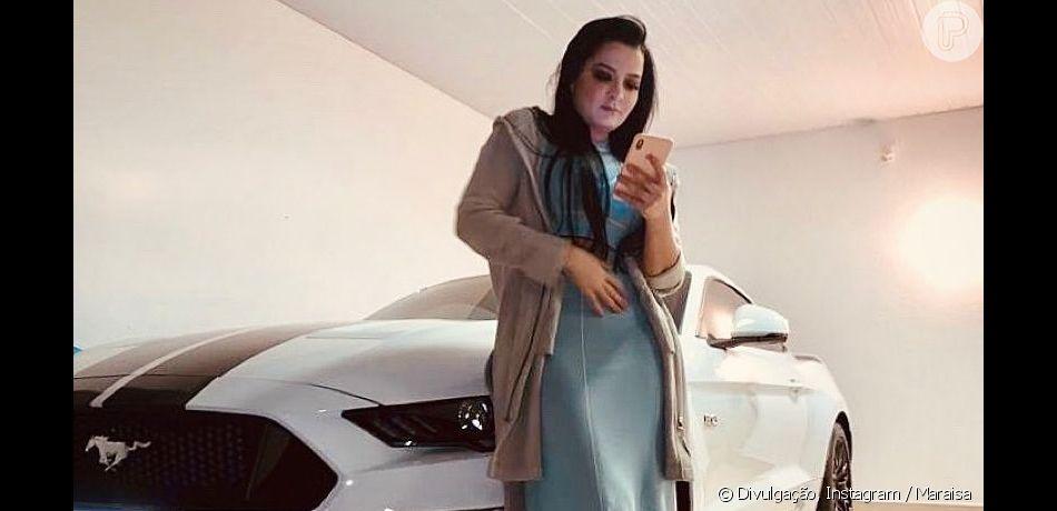 Maraisa postou foto em que aparece ao lado de um carro luxuoso, da marca Ford, modelo Mustang, nesta terça-feira, 7 de maio de 2019