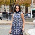 Bruna Marquezine usou vestido Miu Miu  na cor azul-marinho, que faz parte da coleção verão 2018