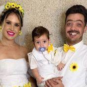 Safadão e Thyane Dantas combinam look caipira com os filhos em arraiá. Fotos!
