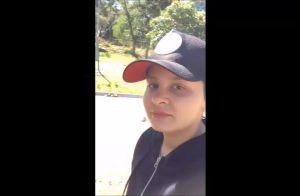 Beleza natural! Sem make, Maiara pratica exercícios e grava vídeo: 'Caminhada'
