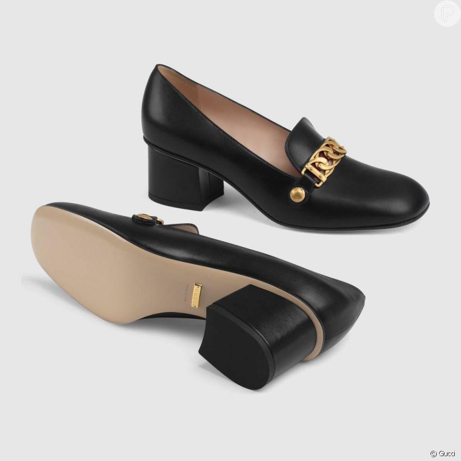 Fiorella Mattheis usou sapato Gucci de couro de $ 890, avaliado em mais ou menos R$ 3,5 mil no Brasil