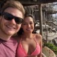 Thais Fersoza viajou de férias com o marido, Michel Teló, para o México