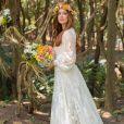 Um vestido delicado com renda foi a escolha de Marina Ruy Barbosa para seu casamento religioso