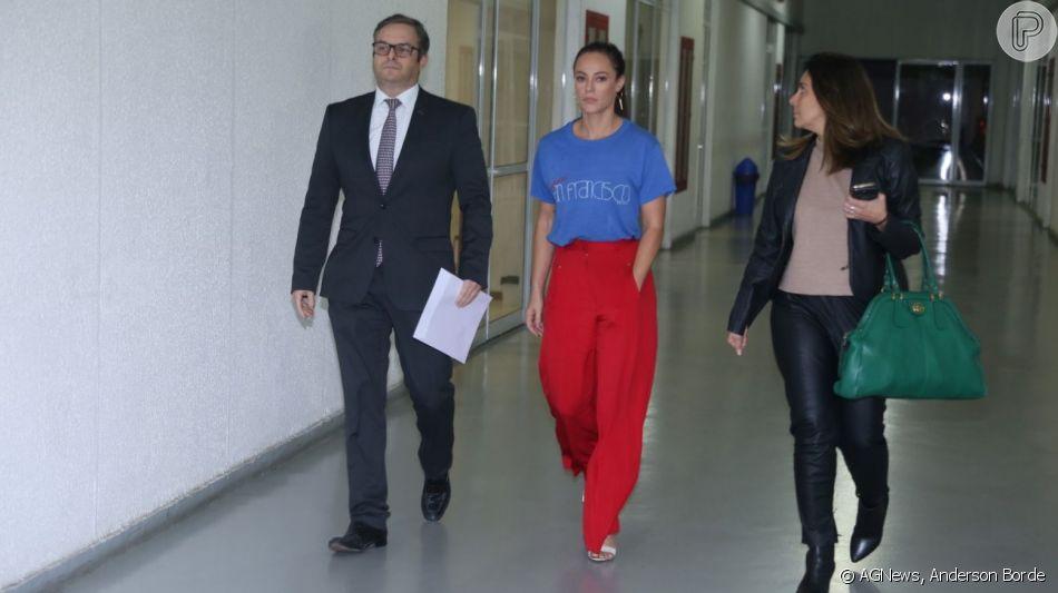 Paolla Oliveira vai a delegacia prestar depoimento sobre caso de vídeo íntimo nesta segunda-feira, dia 15 de julho de 2019