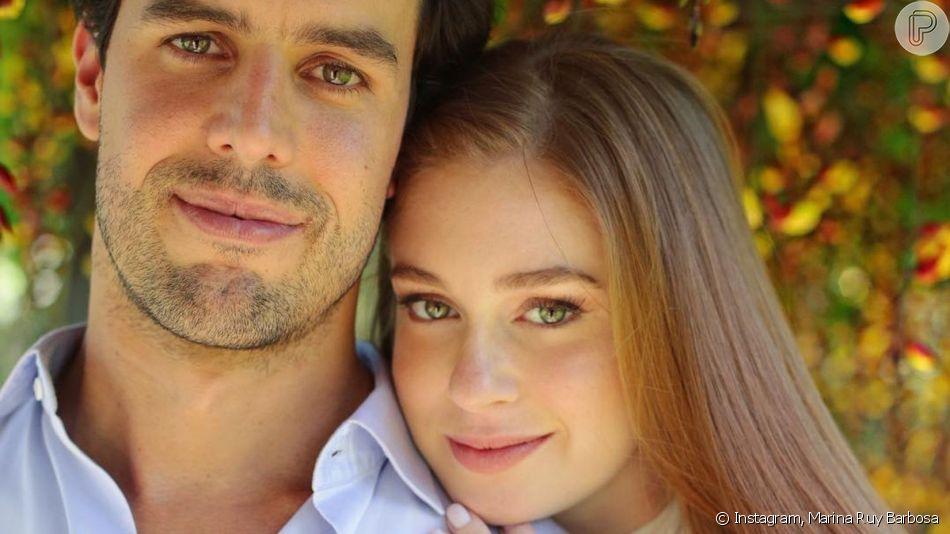 Marina Ruy Barbosa resgatou vídeo do início do namoro com Xande Negrão, com quem se casou em 2017