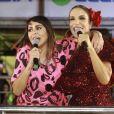 Ivete Sangalo dividiu vocais com Alinne Rosa durante o Fortal