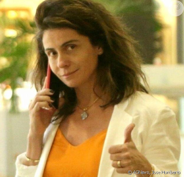 Giovanna Antonelli vai às compras em lojas de luxo em shoppingo no Rio de Janeiro, nesta terça-feira, dia 30 de julho de 2019