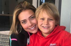 Carol Dantas explica babá para o filho, Davi Lucca, de 7 anos: 'Me sinto segura'