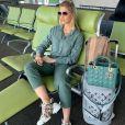 Andressa Suita é fã de produções grifadas para viajar: em look anterior, a mala Louis Vuitton roubou a cena