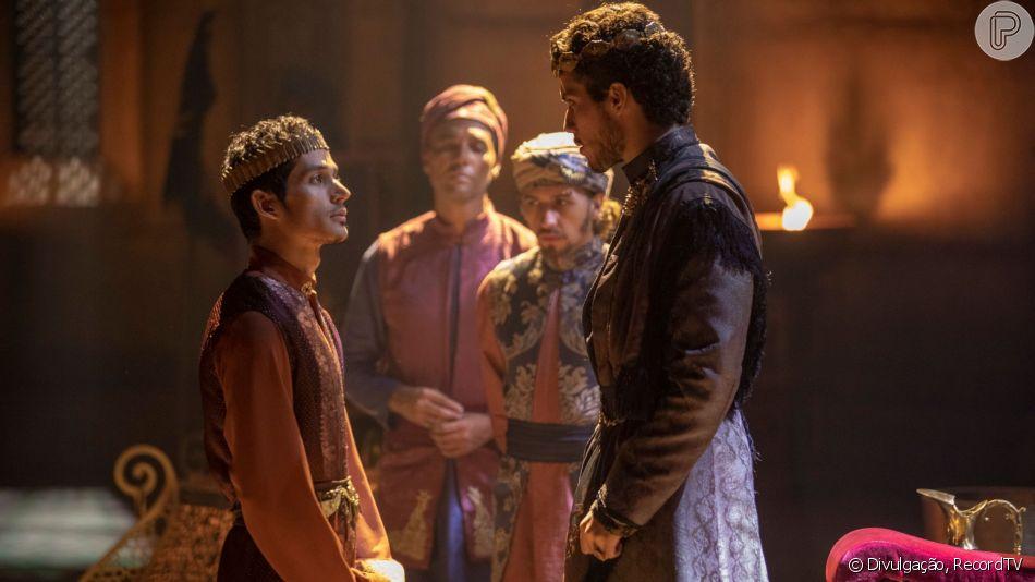 No último capítulo da novela 'Jezabel', o filho da rainha, Jorão (Diyo Coelho) é assassinado por Jeú (ator não divulgado), aponta roteiro obtido pelo Purepeople