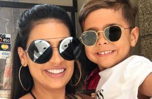 Filho de Simone pede irmã para cantora: 'Não gosto de brincar sozinho'