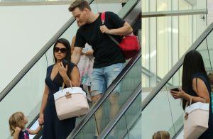 Em família: Thais Fersoza e Teló levam Melinda e Teodoro a shopping. Fotos!