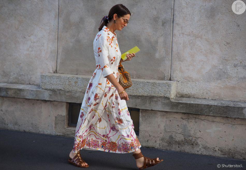 Sandália rasteira da moda em dez looks para você copiar
