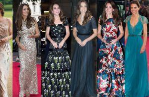 Longos de Kate Middleton são inspiração para moda festa. Confira em 20 fotos!