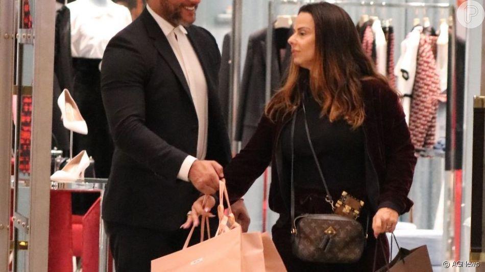 Viviane     Araujo   vai as compras no shopping Village Mall, na Barra da Tijuca, na noite desta quarta-feira, 14 de agosto de 2019