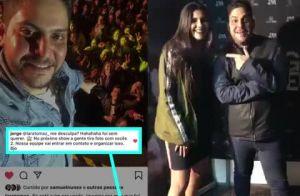 Promessa cumprida! Sertanejo Jorge faz nova foto com fã após selfie desastrada