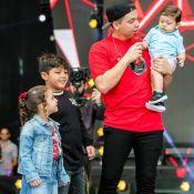 Wesley Safadão convida filhos para show e comentário de Yhudy rouba a cena