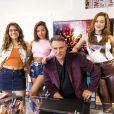 Nanda (Gabriella Mustafá) e Raíssa (Dora de Assis) trocam provocações ao gravarem clipe para concurso na novela 'Malhação: Toda Forma de Amar'