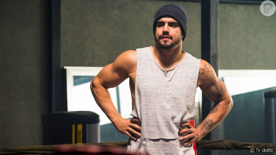 Rock (Caio Castro) ficará encantado por Joana (Bruna Hamú) na novela 'A Dona do Pedaço'